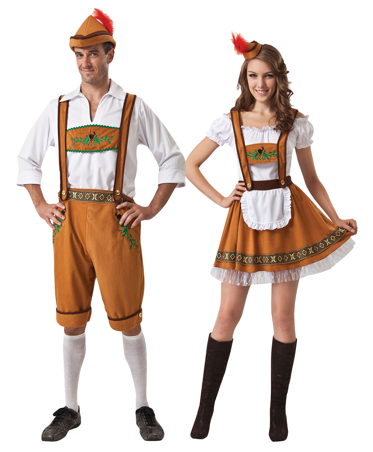 Oktoberfest Couple Fancy Dress German Beer Bavarian Mens Womens Costume Outfits | EBay