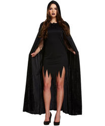 Black Devil Cape Adults Costume