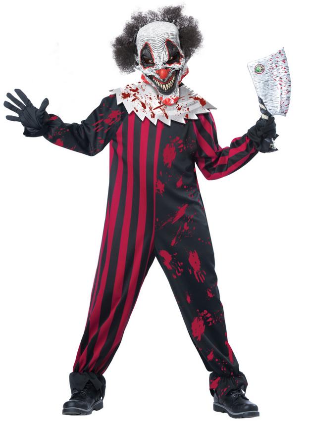Scary Clowns Boys Fancy Dress Halloween Horror Joker Circus Kids ...