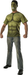 The Incredible Hulk Mens T-Shirt and Mask Costume