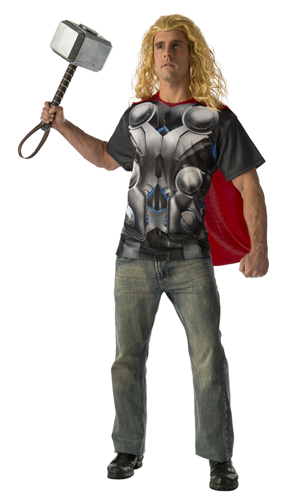 Thor Mens T-Shirt and Cape Costume
