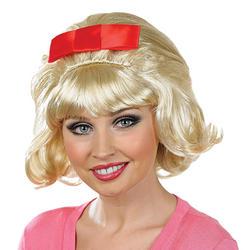 Flicked Blonde Beehive Wig