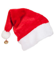 Deluxe Santa Hat with Bell Costume Accessory