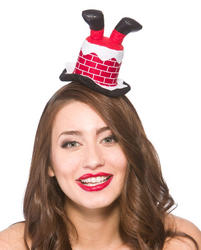 Santa Stuck in Chimney Headband Costume Accessory