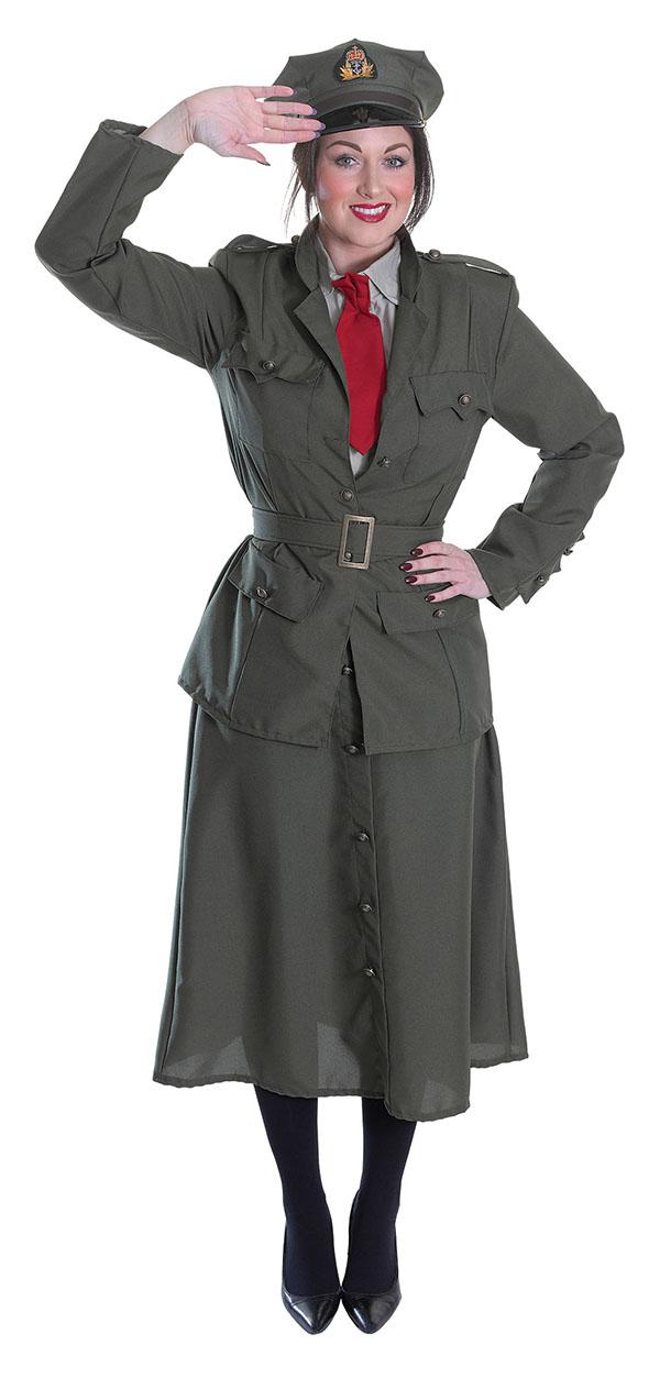 1f9af66b7f88 WW1 Army Officer Ladies Costume