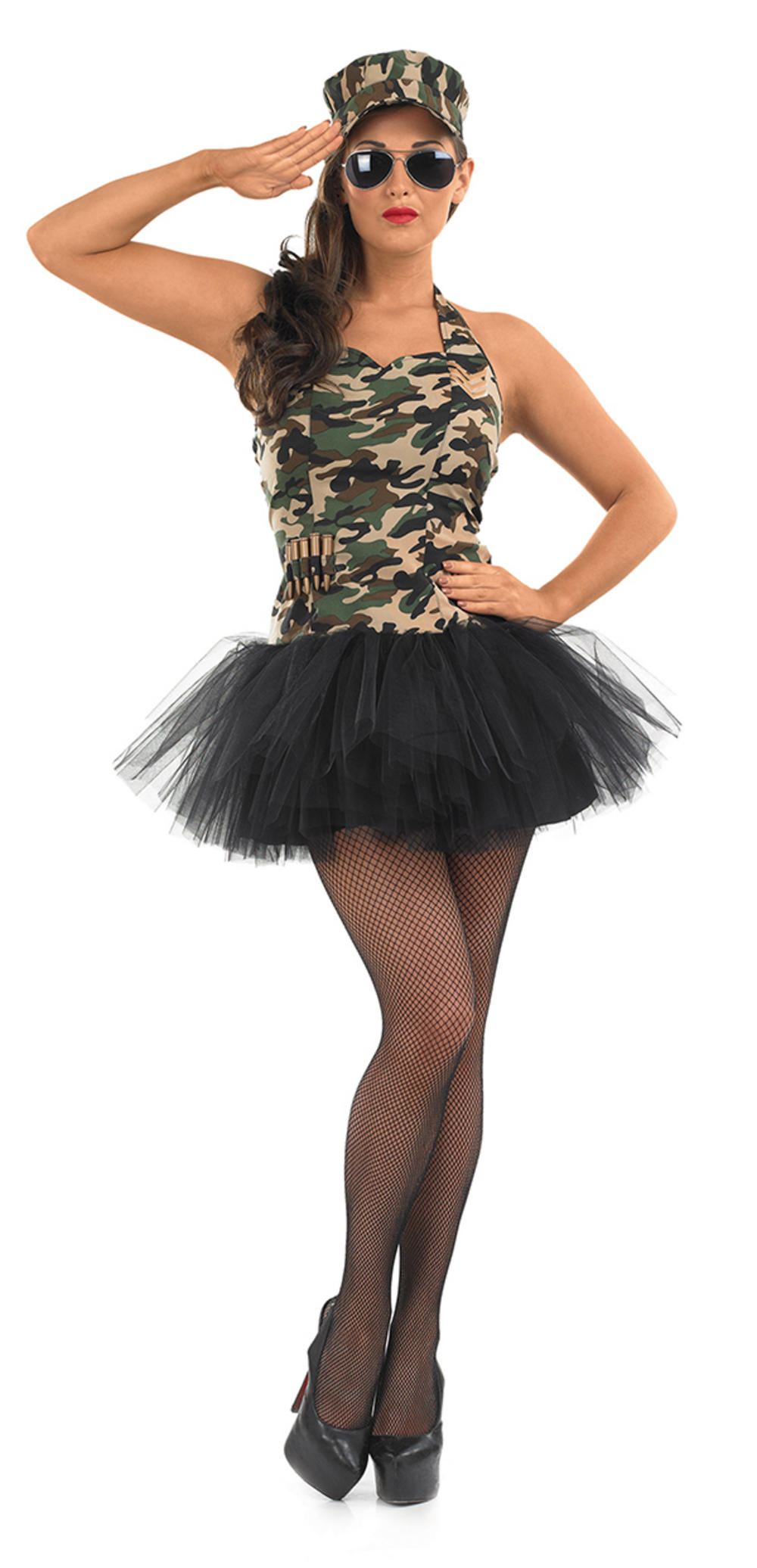 Commando Tutu Girl Ladies Costume