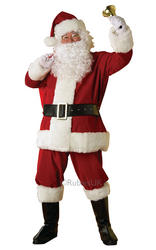 Regal Plush Santa Suit Costume