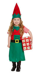 Toddler Elf Girls Costume