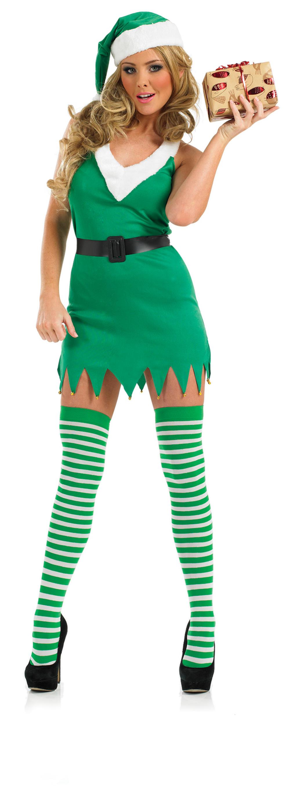 Flirty Elf Ladies Costume