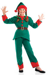 Kids Elf Fancy Dress Costume