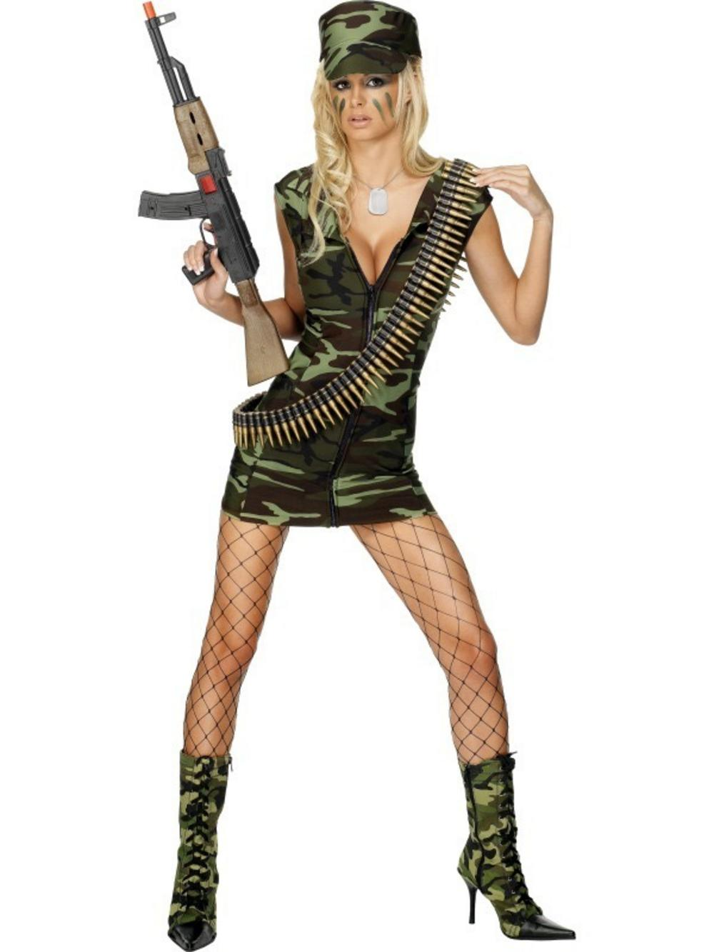 e3ff49e81ab Army Girls Costume & Fever Combat Girl Costume Sc 1 St Mega Fancy Dress
