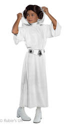 Deluxe Princess Leia Girls Star Wars Costume