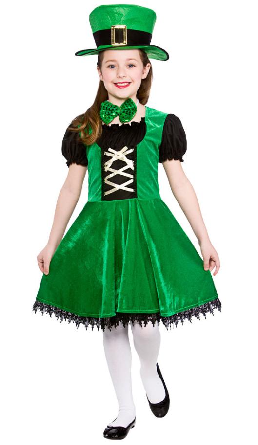Deluxe Leprechaun Girls Costume | St Patricks Day Costumes | Mega Fancy  Dress