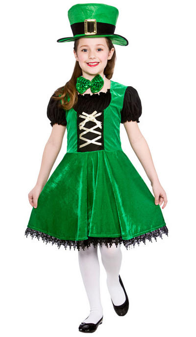 Deluxe Leprechaun Girls Costume
