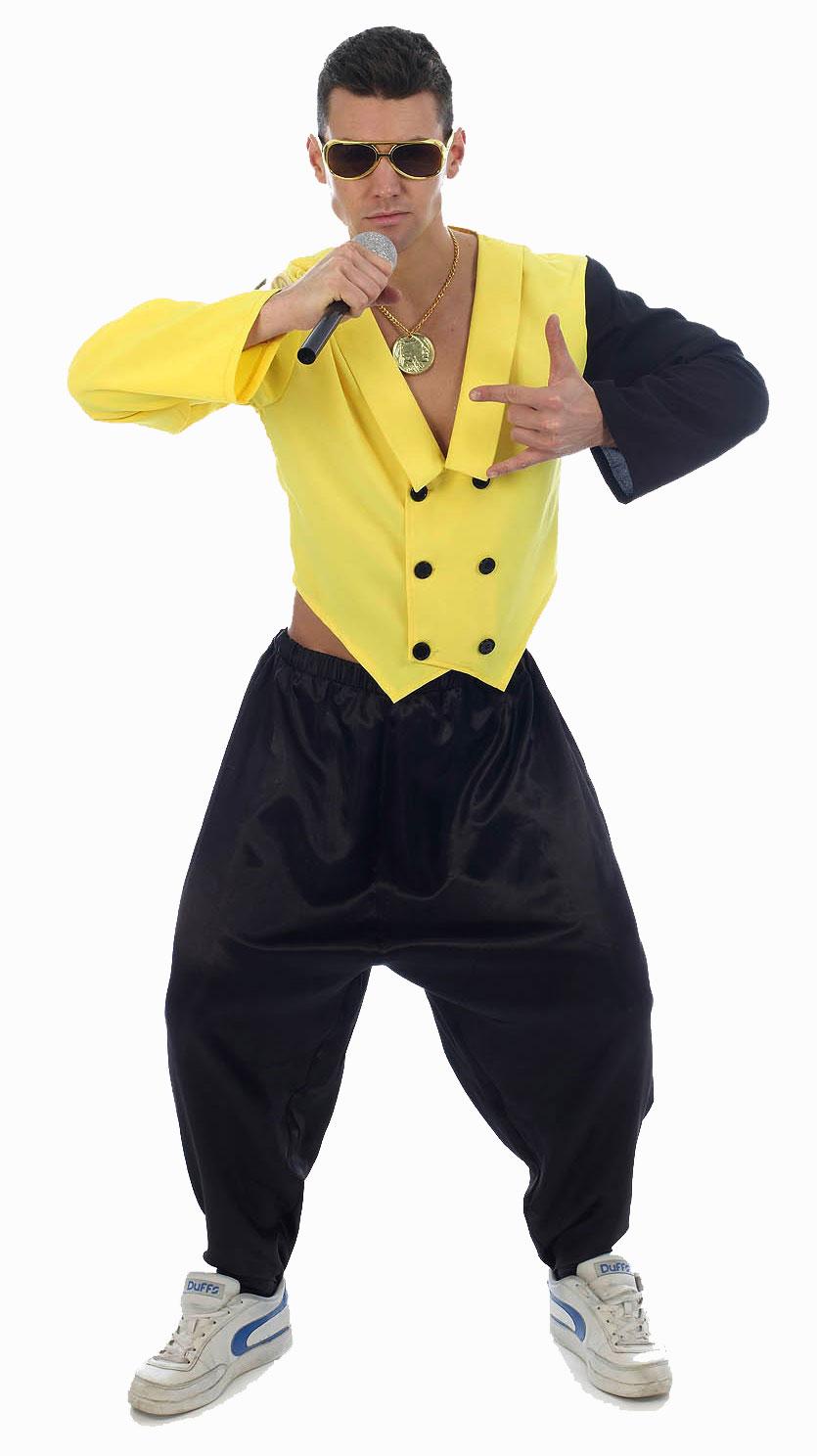 80s Rapper Rap King Fancy Dress Mens 1980s Celebrity MC Hammer Party Costume | eBay