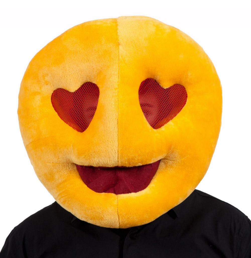Love Heart Eyes Emoji Face Mask