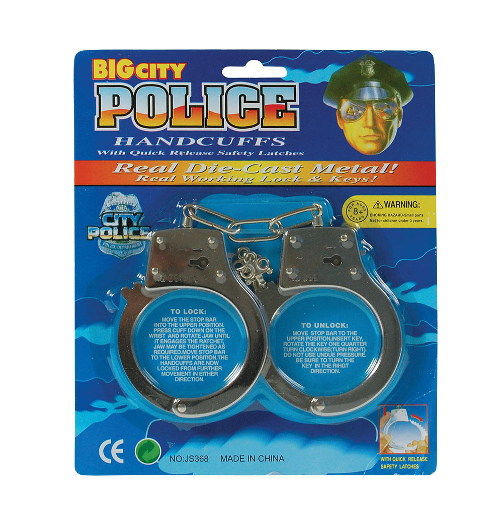Metal Handcuffs | Stag Party Costumes | Mega Fancy Dress