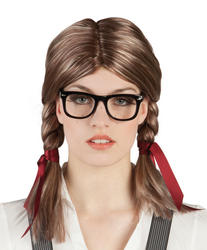 Nerdette & Glasses Wig Set
