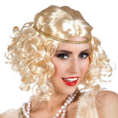 Blonde Flapper Wig with Headband