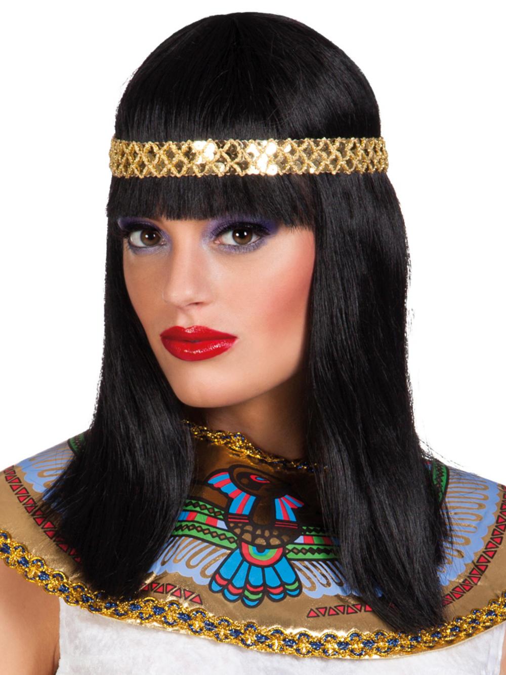 Black Cleopatra Wig with Headband