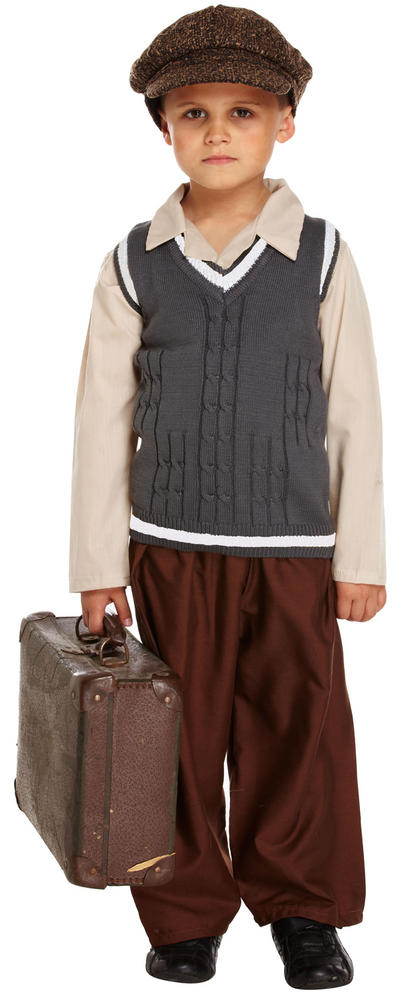 Kids WW2 Evacuee Boy Costume