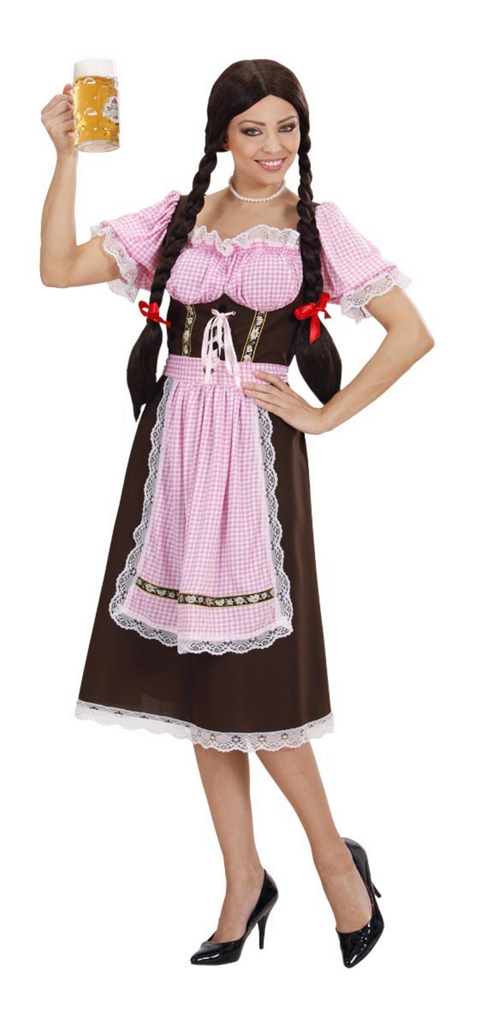 Deluxe Bavarian Beer Lady Costume Womens German Oktoberfest Fancy Dress Outfit
