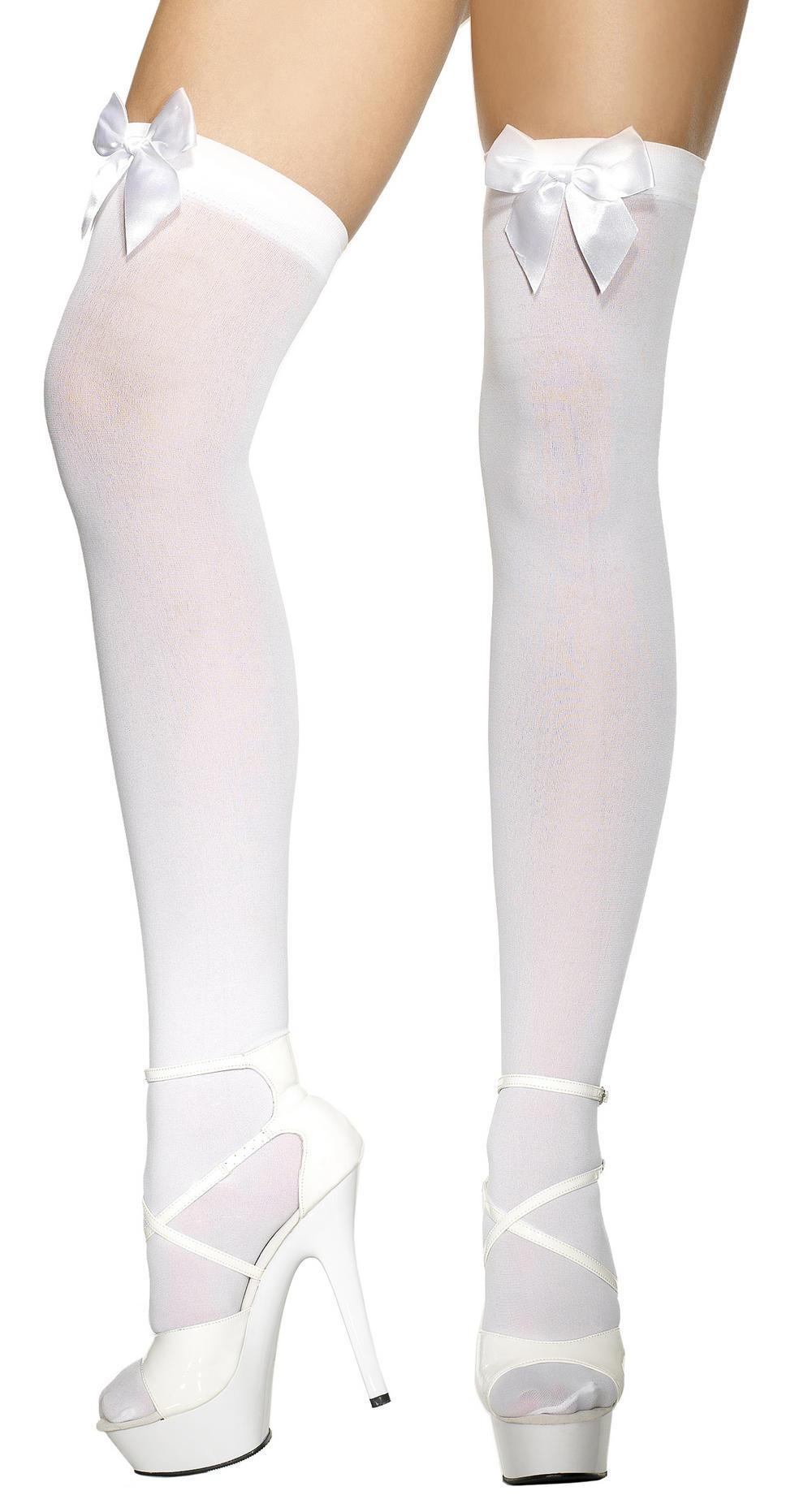 White Stockings with White Bows