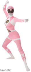 Pink Power Ranger Ladies 2nd Skin Suit