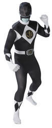 Black Power Ranger Mens 2nd Skin Suit