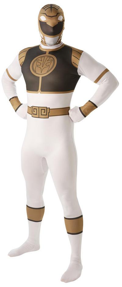 White Power Ranger Mens 2nd Skin Suit