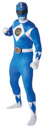 blue Power Ranger Mens 2nd Skin Suit