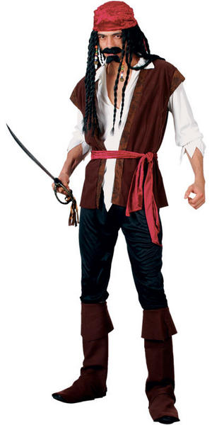 Mens Caribbean Pirate Fancy Dress