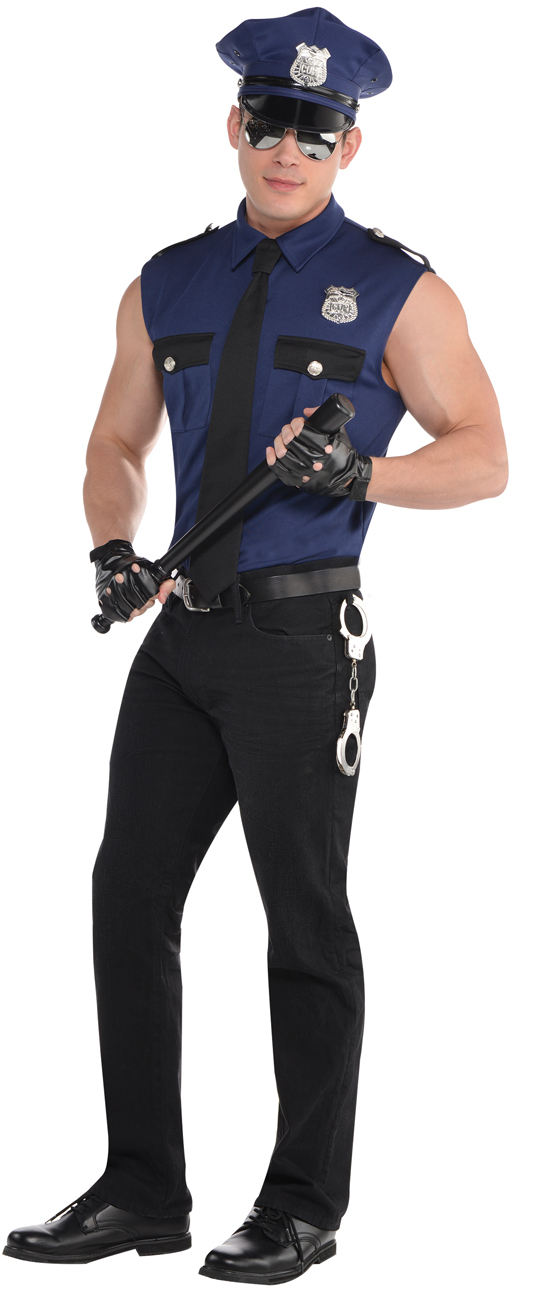 68f4fd8437 Details about Sexy Policeman Mens Fancy Dress Cop Police Officer Stag  Uniform Adults Costume