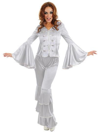 Silver Dancing Queen Ladies Costume