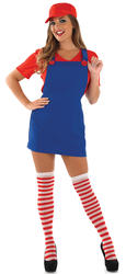 Sexy Red Plumbers Mate Ladies Costume