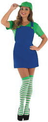 Sexy Green Plumbers Mate Ladies Costume