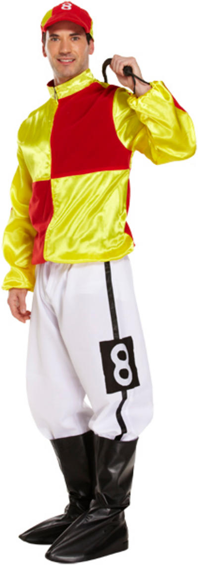 Red and Yellow Jockey Mens Costume