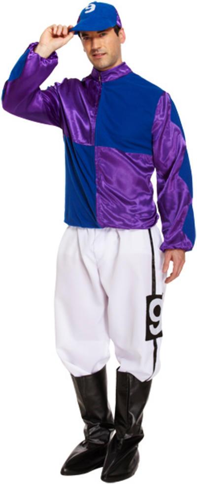 Purple and Blue Jockey Mens Costume