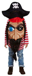 Pirate with Giant Face Boys Costume