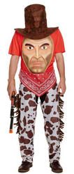 Cowboy with Giant Face Mens Costume