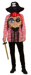 Pirate with Giant Face Mens Costume