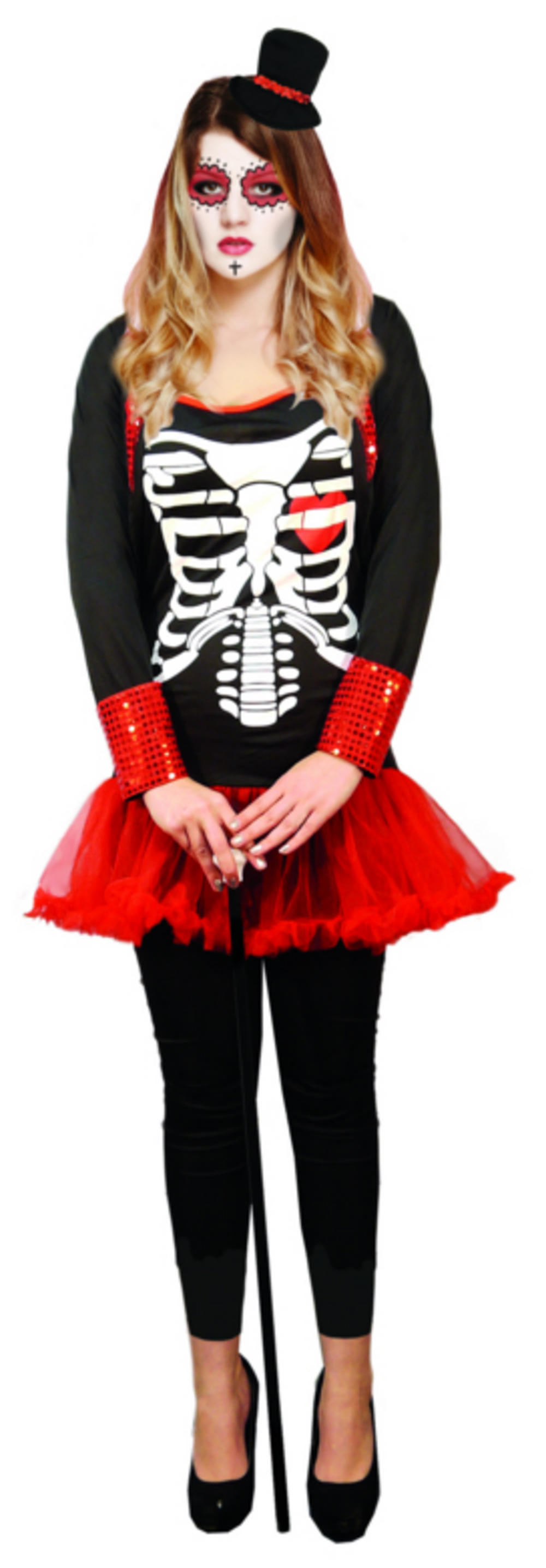 Day of the Dead Ladies Fancy Dress Costume
