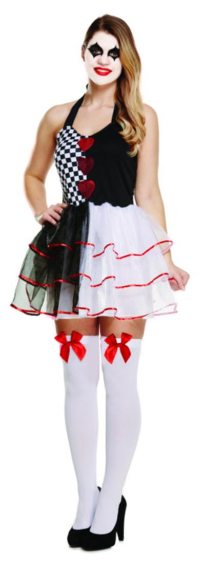 Evil Jester Ladies Costume
