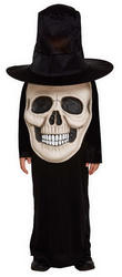 Skull with Giant Face Kids Costume