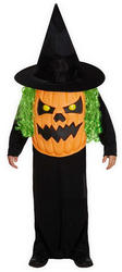 Pumpkin with Giant Face Kids Costume