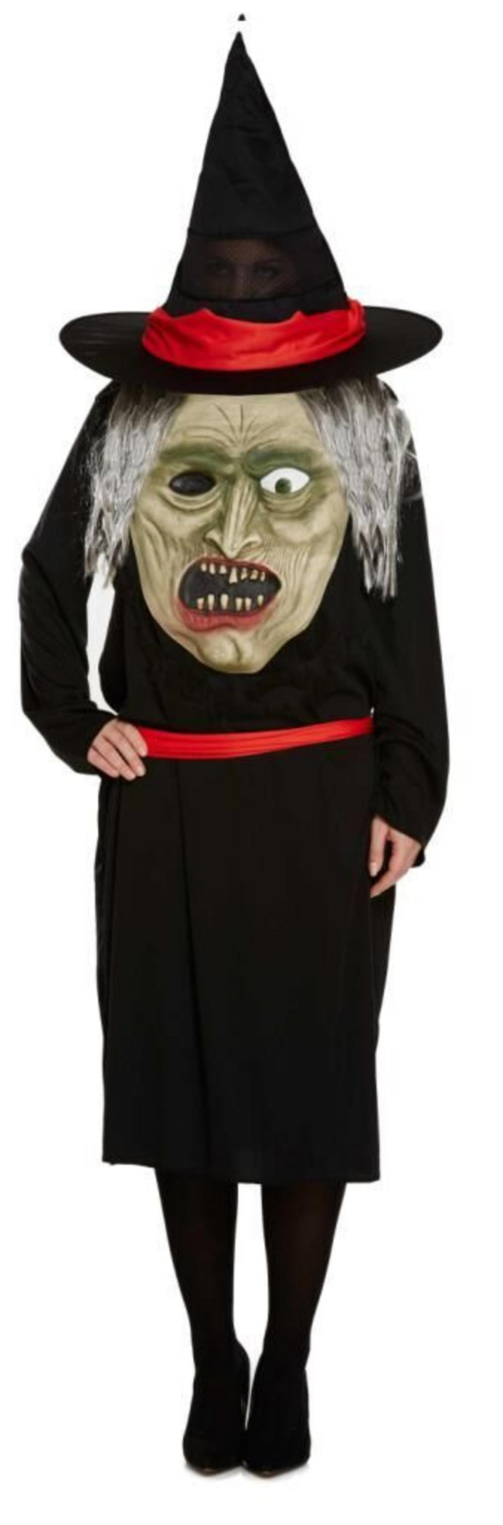 Witch with Giant Face Ladies Costume