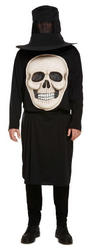 Skull with Giant Face Mens Costume