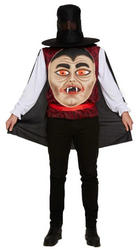 Vampire with Giant Face Mens Costume