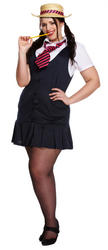 Plus Size Sexy School Girl Ladies Costume