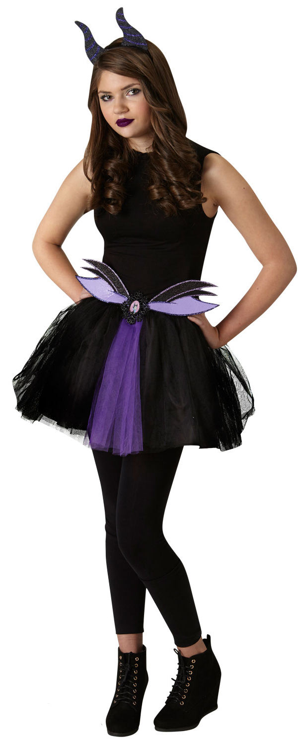 maleficent tutu set fancy dress disney villain teen ladies